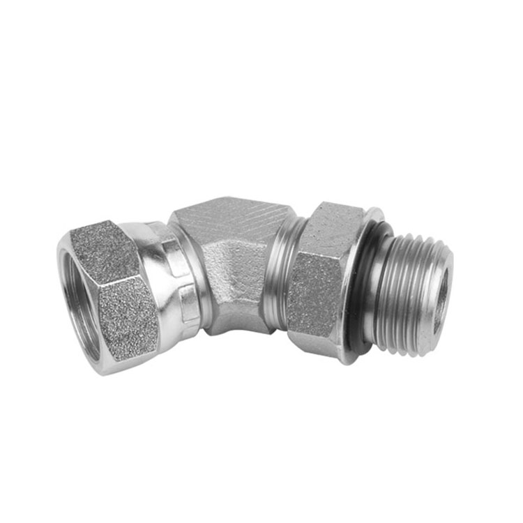 6902 - O-Ring Boss Male to Pipe Swivel Female Elbow 45°