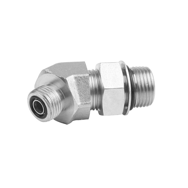 FS6802/FF6802 - ORFS to O-Ring Boss Male Elbow 45°